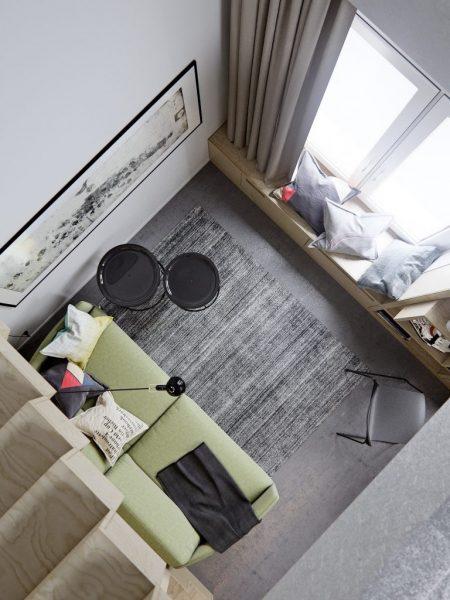 Căn phòng trông hiện đại và tinh tế hơn hẳn do có sự kết hợp màu sắc với nội thất