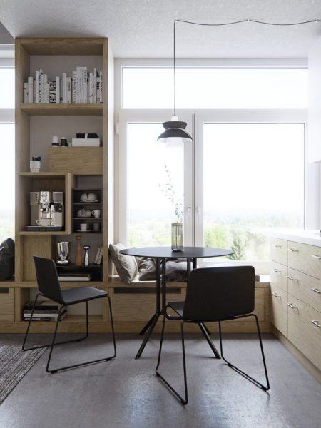 Phân chia không gian bằng đồ nội thất
