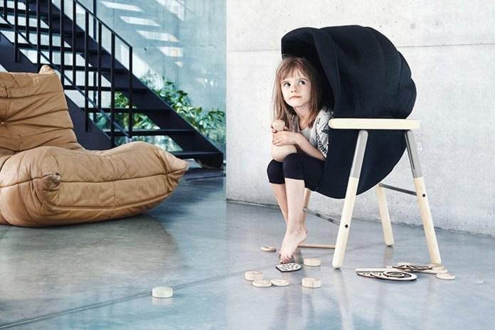 Chiếc ghế có tên Mia Hoodie này giúp cho trẻ em có cảm giác an toàn và tránh stress