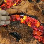 Quá trình tạo nên chiếc bàn ăn tuyệt đẹp theo phong cách nham thạch nóng chảy